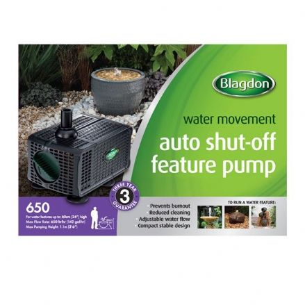 Blagdon 650 Auto Shut-off Feature Pump